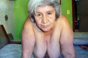 Naked old woman